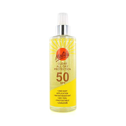 Malibu Clear All Day Protection 50SPF 250ml