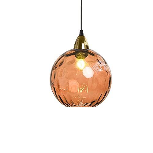 NZDY Iluminación Colgante con Pantalla de Vitrales de Estilo Nórdico, Diámetro Creativo de 20 cm / 7,8 Pulgadas, Lámpara de Araña de Decoración Simple, Mini Lámpara Colgante de Vidrio Soplado a Mano,