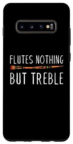 Galaxy S10+ Vintage Flutes Nothing But Treble Music Instrument Flute Case
