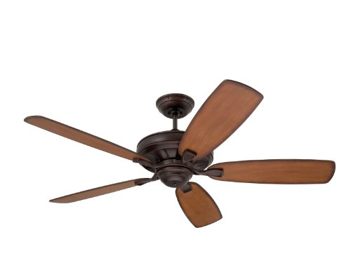 Emerson Ceiling Fans CF788VNB Carrera Grande Eco Indoor Outdoor Ceiling Fan With 6-Speed Wall Control, Energy Star And Damp Rated, Blades Sold Separately, Light Kit Adaptable, Venetian Bronze Finish