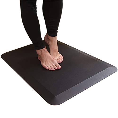The Original 1 inch Thick Anti-Fatigue Comfort Mat, Perfect for Kitchens and Standing Desks, Ergonomically Engineered, Material, Non-Toxic, Waterproof, 30x20 inches (Black),
