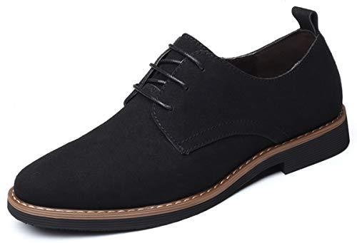 AARDIMI Schnürhalbschuhe Herren Klassische Derby Oxfords Modische Anzug Schuhe Lace ups Herren Business Schuhe Hochzeit Schuhe (46 EU, Schwarz)