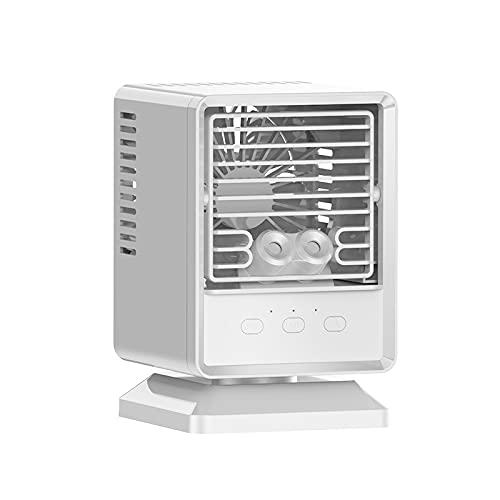 Ventilador Portátil De Humidificación Móvil Para Aire Acondicionado De Pequeño Tamaño Blanco