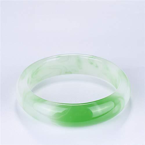 Gold Silk Jade Bracelet Light Green Jade Armband Dames Wild Sieraden Voor Het Verzamelen Van Cadeaus Voor Moederdag!,inner diameter 56 to 58mm