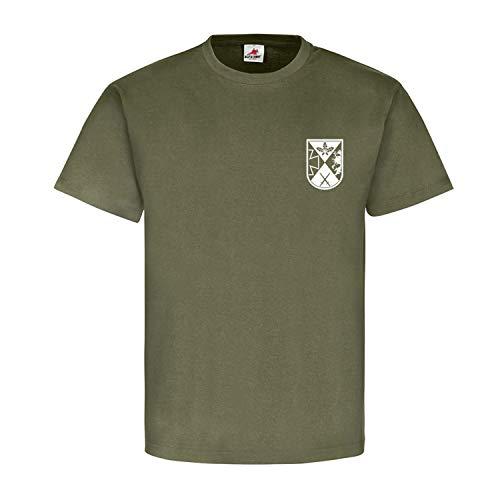 PzGrenBtl 908 Stay Back 100 Meters or You Will be Shot-Bundeswehr T Shirt #11531, Farbe:Oliv, Größe:Herren XL