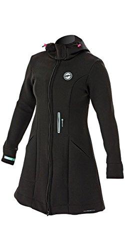 Prolimit Dames Pure Girl Racer-jas Zwart Blauw - Winddicht materiaal om windchill te elimineren - Kap- en armafdichtingen