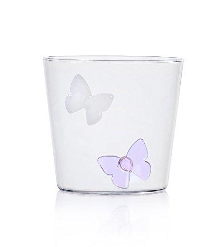 Ichendorf Milano Taza de cristal con diseño de mariposas, vidrio de borosilicato,...