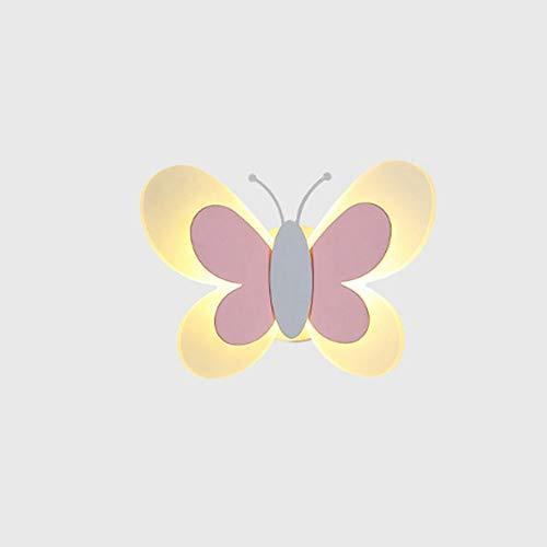DYXYH Mariposa lámpara de Pared Luces de la Noche for la decoración del Dormitorio de los niños Apliques de Pared Iluminación for niñas Hada Rosada