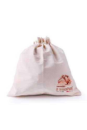 Il Conservapane Sacchetto Portapane Salvafreschezza, Cotone, Panna