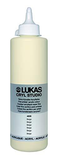 LUKAS Cryl Studio 500 ml, Acrylfarbe in Premium-Qualität, Beige