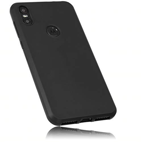 mumbi Hülle kompatibel mit Motorola One Handy Case Handyhülle, schwarz