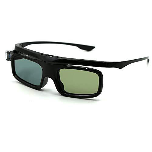 3D Glasses, Active Shutter Rechargeable Eyewear for 3D DLP-Link Projectors Cocar Toumei