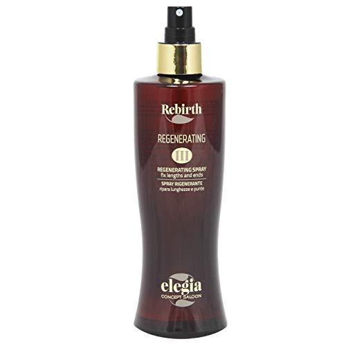 REBIRTH- Elegia Spray Rigenerante Termoprotettore Per Capelli con Olio Di Argan Moringa Bio E Sali Minerali 250 ml