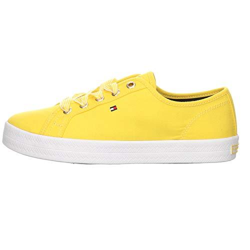 Tommy Hilfiger Footwear Damen Sneaker Essential nautical Canvas gelb Gr. 39