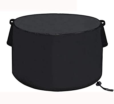 TheElves Fire Pit Cover Round 36 x 20 inch, Waterproof Windproof Anti-UV Heavy Duty Patio Firepit Bowl Cover from TheElves