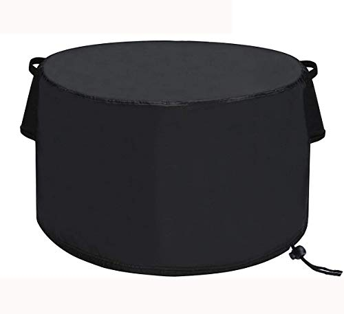 TheElves Fire Pit Cover Round 36 x 20 inch, Waterproof Windproof Anti-UV Heavy Duty Patio Firepit Bowl Cover