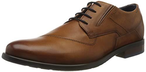 bugatti 312163174100, Zapatos de Cordones Derby Hombre, Marrón (Marrón (Coñac), 42 EU