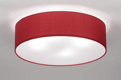 Lumidora Deckenleuchte Modern Klassisch Rot Stoff