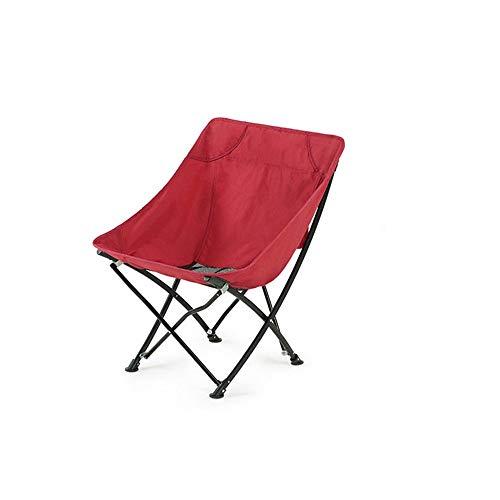 Tabouret pique-nique pliante chaise camping portable rouge vintage avec sac neuf