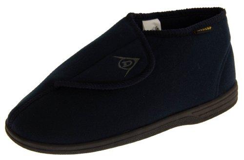 Dunlop Dmh7595 Hombre Azul Marino Ajustables Toque de Fijación Ortopédicos Botas Zapatillas EU 44