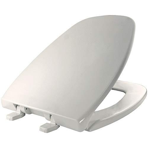 BEMIS 1240205 000 Eljer Emblem Plastic Toilet Seat, ELONGATED, White