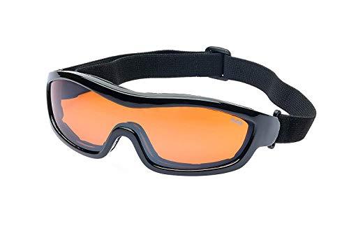 Ravs Sportbrille Skibrille Schutzbrille für Allwetter mit Kontrastverstärkung inkl. Softbag