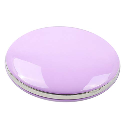 IPOTCH Taschenspiegel Schminkspiegel Reisespiegel Hand Kosmetikspiegel - Lila