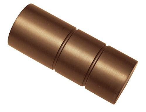 Gardinia Endknopf, Aluminum, Bronze, Windsor Zylinder, 2