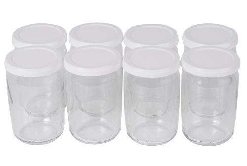 Seb 6100010654 8 pots en verre avec couvercle