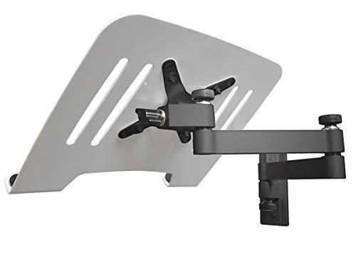 DRALL INSTRUMENTS Laptop Wandhalterung Halterung schwarz mit Notebook Adapterplatte Ablage weiß Modell: L52B-IP3W