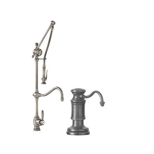 Great Features Of Waterstone 4400-2-WC Traditional Gantry Pulldown Faucet - Hook Spout 2pc. Suite We...