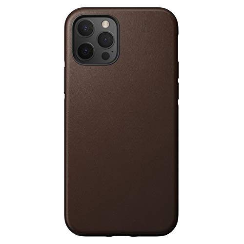 NOMAD Back Cover Rugged Brown, Leather Funda para teléfono móvil Back Cover Rugged Brown, Leather, Apple, iPhone 12 Pro