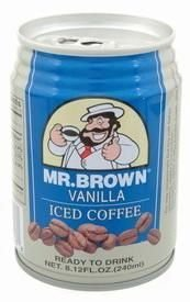 Mr. Brown Vanilla Iced Coffee, 8.12 Ounce (Pack of 24)