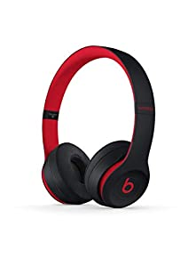 Beats Solo3 Wireless On-Ear Headphones - Apple W1 Headphone Chip, Class 1 Bluetooth, 40 Hours Of Listening Time - Defiant Black-Red (Previous Model)