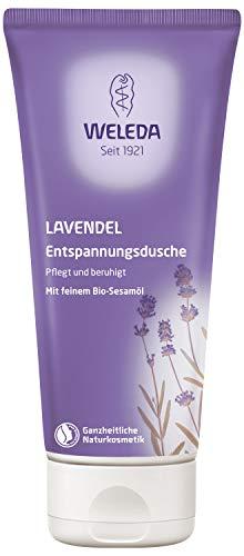 WELEDA Lavendel Entspannungsdusche, pflegende Naturkosmetik Waschlotion mit ätherischem Lavendelöl, Bio Duschgel zum Schutz vor trockener Haut (1 x 200 ml)