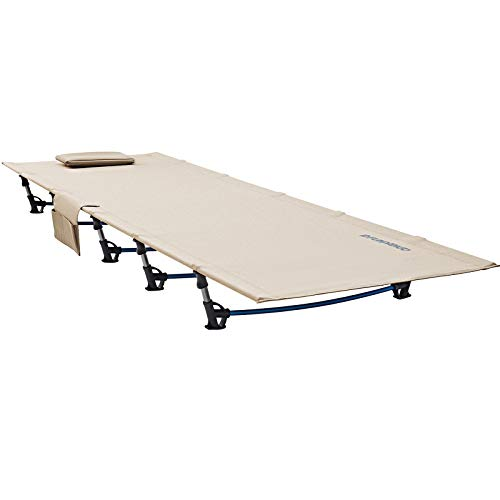 FUNDANGO Extra Long Ultralight Folding Compact Camping Cot Bed.