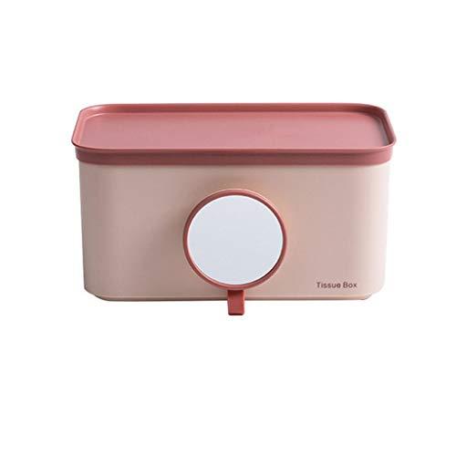 SMEJS Caja de Tejido ABS nórdico con Soporte de Papel de Espejo Montado en Pared Rack Organizador de hogar Cocina Baño Accesorios de decoración