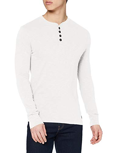 Superdry Legacy Ls Henley Chemise, Cream, L Homme