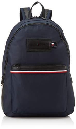 Tommy Hilfiger Herren Modern Nylon Backpack Schultertasche, Mehrfarbig (Sky Captain), 12.5x46x31.5 centimeters
