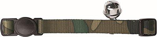 HUNTER Katzenhalsband Camouflage Nylon Sicherheit Click, grün