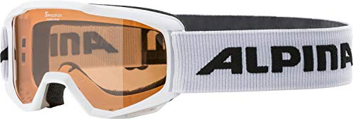 ALPINA PINEY Skibrille, Kinder, white, one size