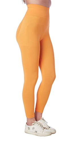 CzSalus Short long pour le temps libre YOGA avec push-up (Orange, XL)