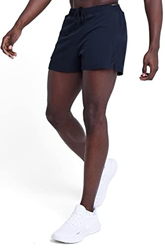 TCA Pace 3-Inch Herren atmungsaktive Laufshorts mit Reißverschlusstaschen - Anthrazit, M