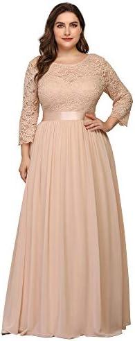 Ever Pretty Womens Ruched Satin Waist Elegant Long Chiffon Bridesmaid Dresses Blush US 14 product image