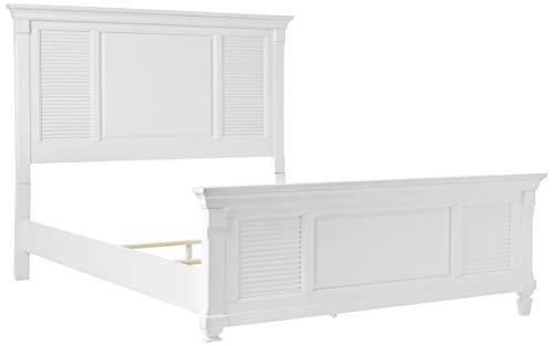 Alpine Furniture Winchester Shutter Panel Bed, Queen Size