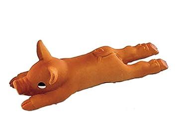 Latex Spielzeug Schwein mit Squeaker klein / small 14 cm