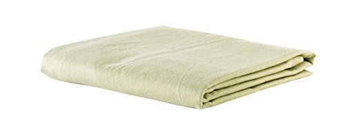 NRG Deluxe Flannel Flat Massage Sheet, Sage, Pack of 3 Great Linen for Spa, Salons & Massage Tables