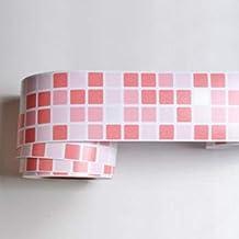 MUMUMUWU ملصق جدار الحمام فن الشارات PVC ذاتي اللصق للجدران للمطبخ ورق الحائط ديكور المنزل (اللون: 1، الحجم: 10 م × 10 سم)