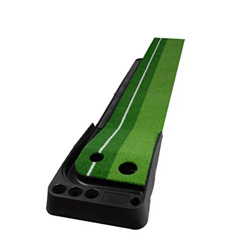 Stavr Golf Putting Mat Golf oefenmat Green Grass Lawn Ball Return Golf trainingsapparaat binnen en buiten 2,5 m