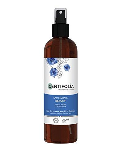 CENTIFOLIA - Kornblumenblütenwasser - Beruhigende Pflege für Augen und Augenlider - Auch für empfindliche Augen geeignet - entlüftet und leuchtet - Bio-zertifiziert - 200 ml
